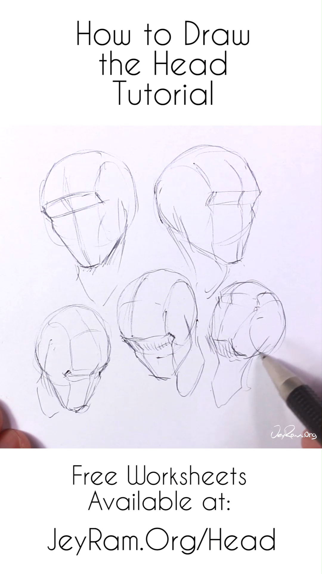 How To Draw The Head From Any Angle Step By Step Tutorial