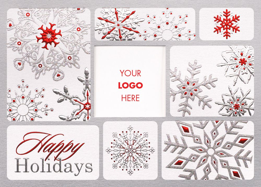 Festive Snowflake Logo Holiday Card - Advanced Printing & Graphic ...