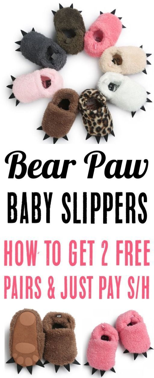 Free Baby Paw Slippers! The Cutest Baby Gift Ever - The Frugal Girls,  #Baby #babygirlclothesnewborn #Cutest #Free #Frugal #Gift #Girls #Paw #Slippers