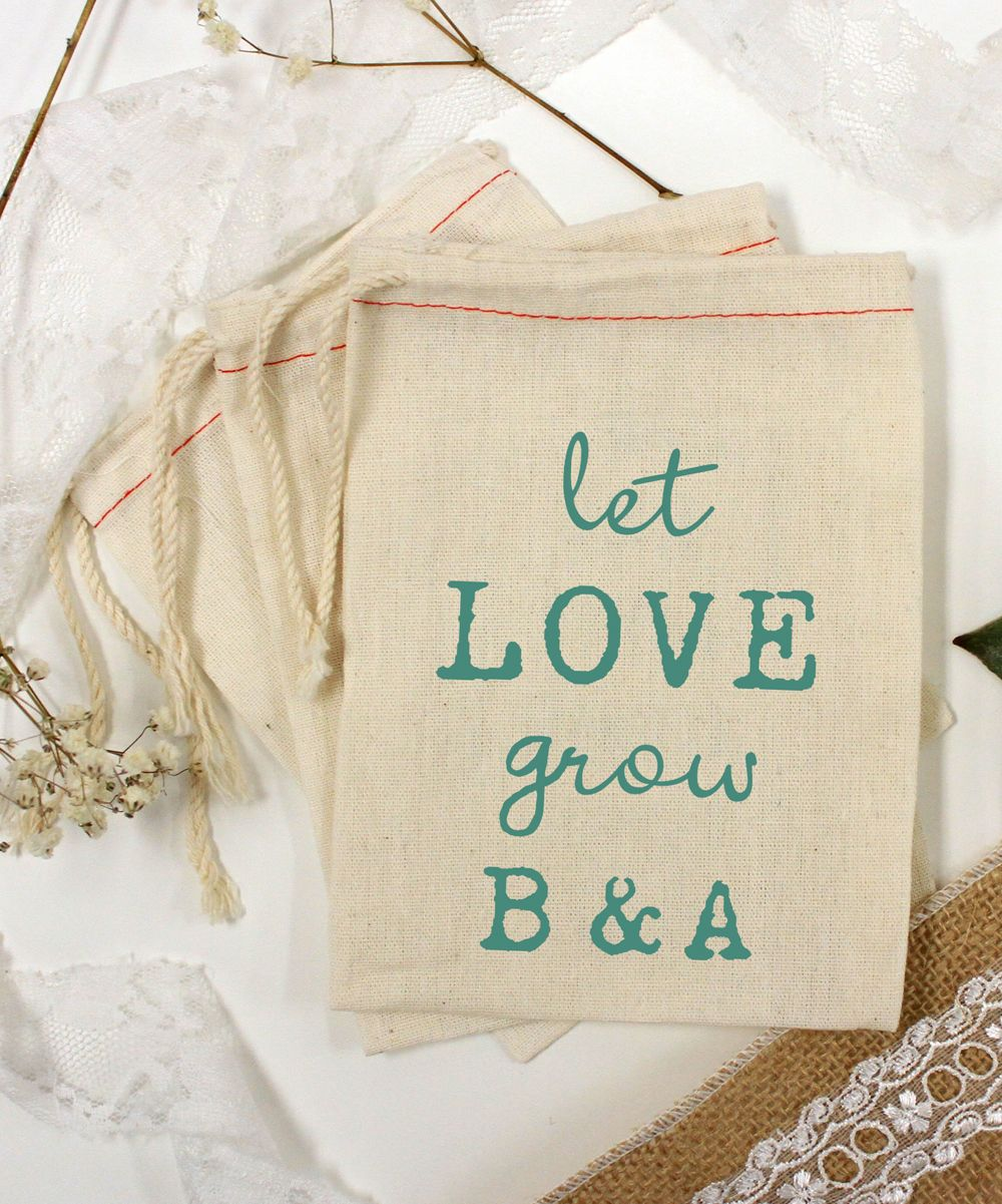 Green \'Let Love Grow\' Personalized Bag - Set of 25 | Products