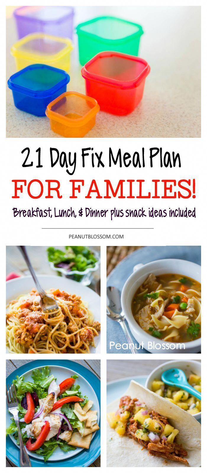 So erstellen Sie einen 21-Tage-Fix-Speiseplan für die ganze Familie   – Healthy Eathing