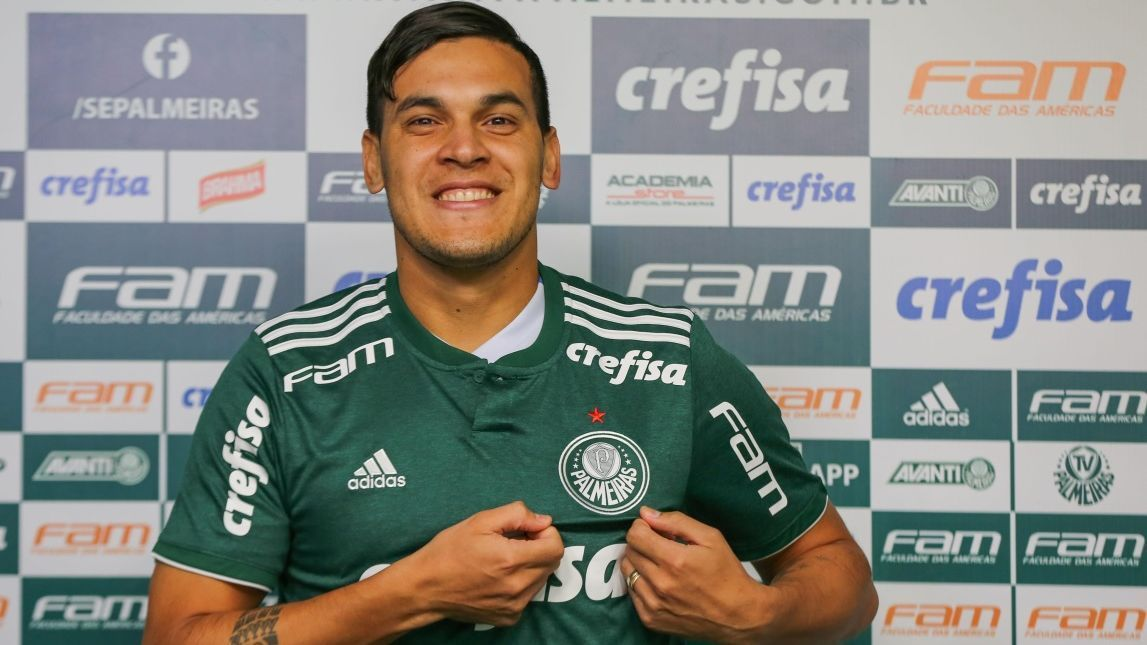Gustavo Gómez. novo zagueiro do Palmeiras tem Gamarra como ídolo ... dbbe3720db3b5