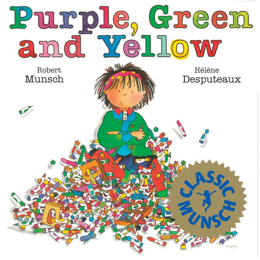 Books about color for kids - Purple Green And Yellow Munsch For Kids By Robert Munsch