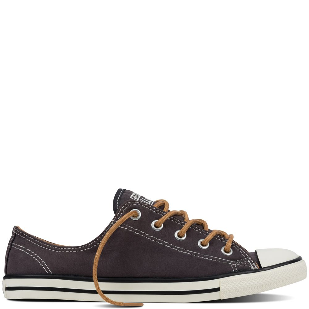 Chuck Taylor All Star Dainty Peached Canvas Almost Black almost black/ biscuit/egret. Black SneakersSneakers WomenConverse ...