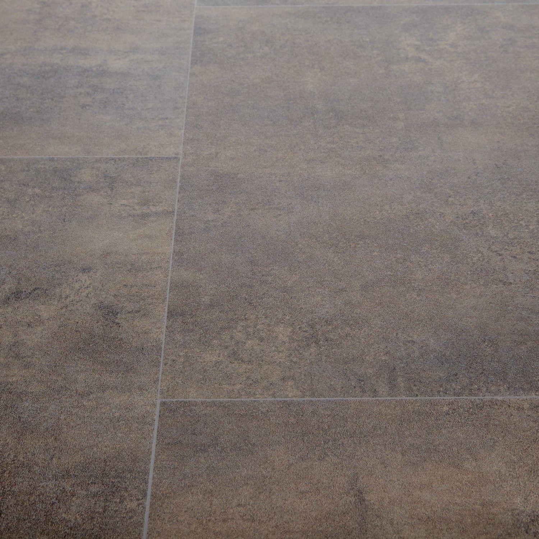 Goliath Antia Brown Stone Tile Effect Vinyl Flooring Spa