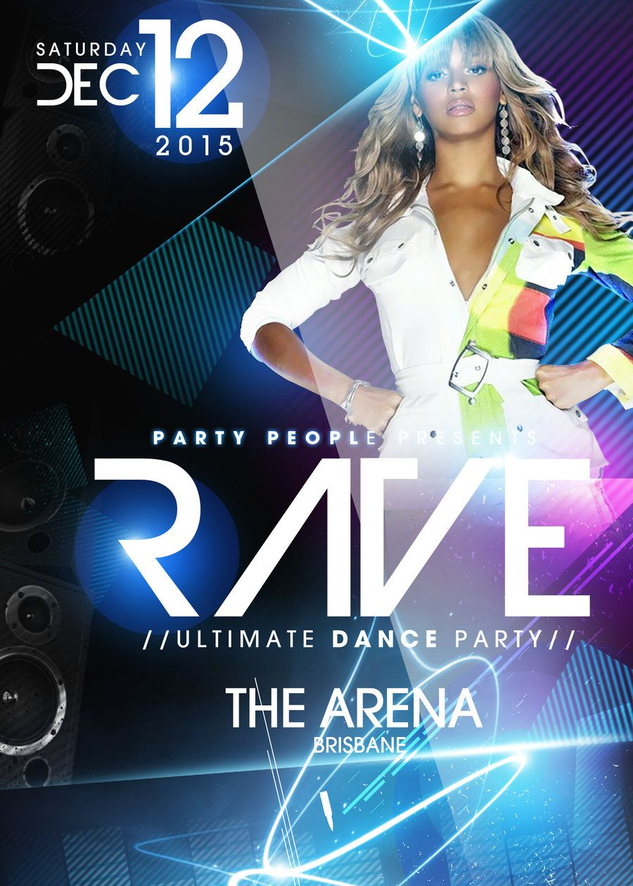 Rave Party PSd Flyer Template FREE DOWNLOAD By  ImperialFlyers.deviantart.com On @deviantART