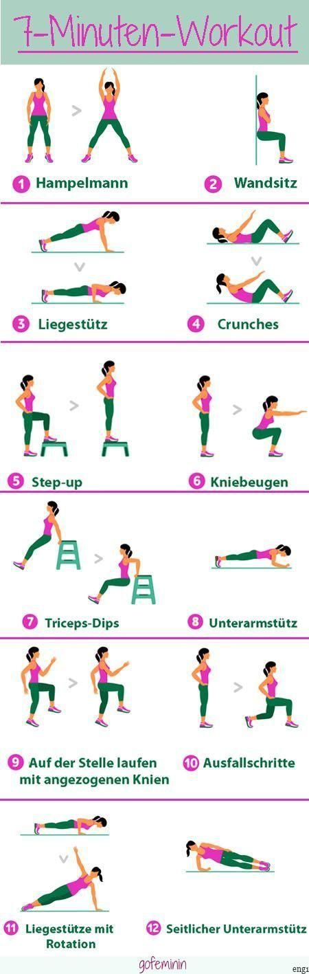 The 7-minute workout is THE secret weapon for a toned body!  - Fitness Übungen // Ernährungstipps //...