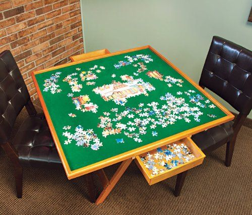 Best Jigsaw Puzzle Table With Drawers Helps To Stay Organized!