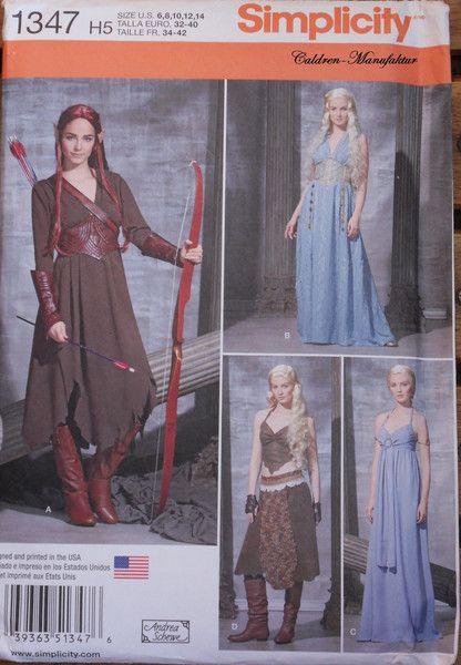Weiteres - Game of Thrones Schnittmuster Daenerys Targaryen - ein ...