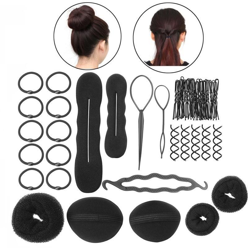 Pixnor Women Girls Diy Hair Styling Accessories Kit Set Hair Braiding Tool Fashion Hair Accessories Braid Accessories