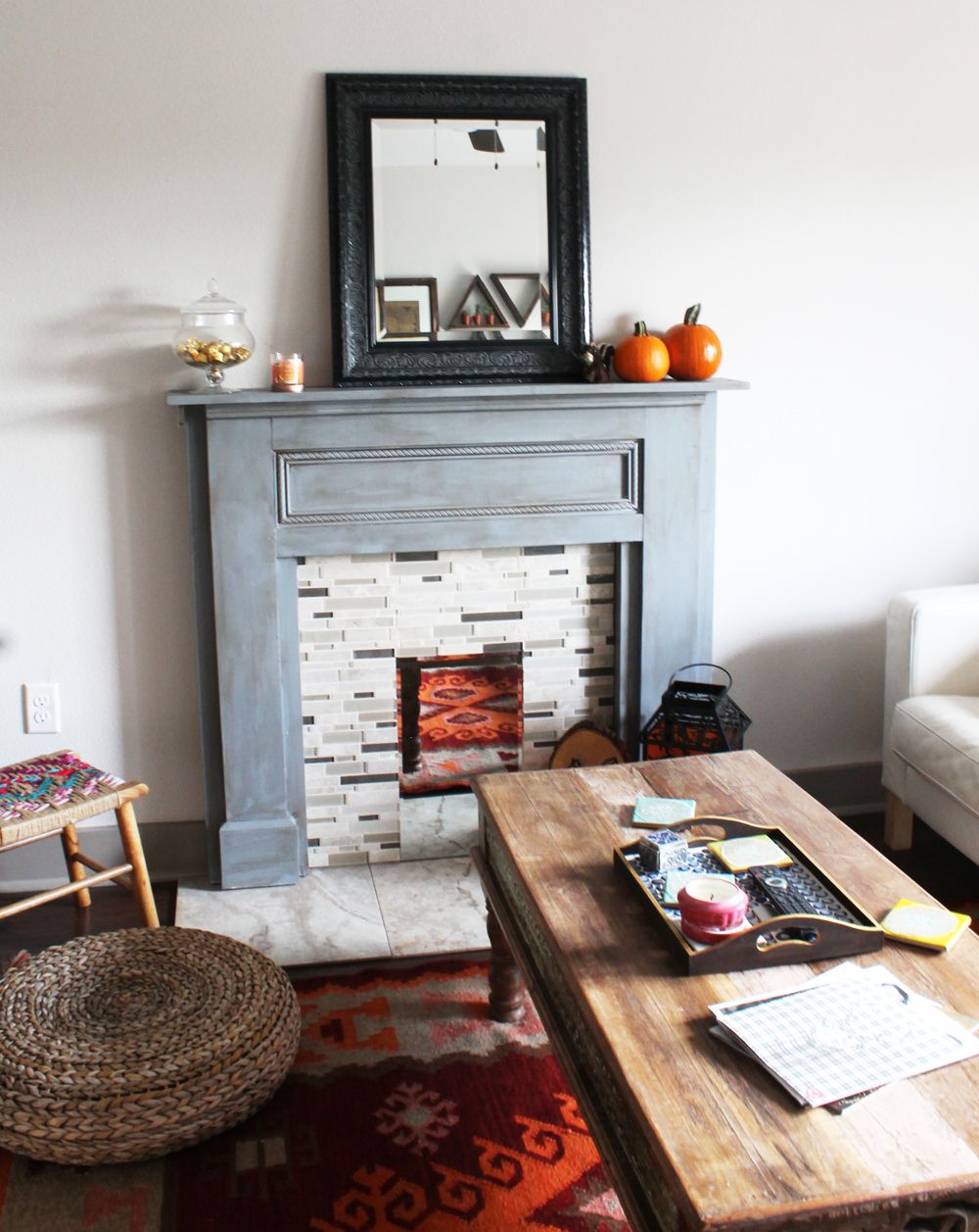 Diy faux fireplace mantel part two faux fireplace mantels faux