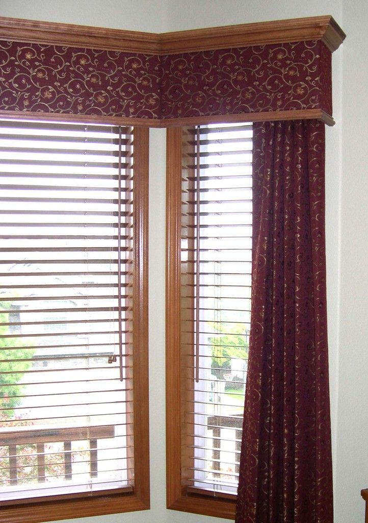 Wood Valances Window Treatments Fabric Insert Wood