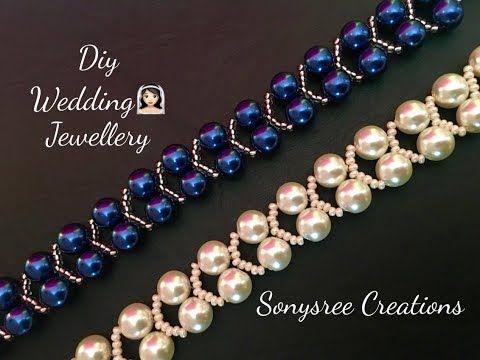 YouTube Very elegant pearl beaded bracelet #diytutorial