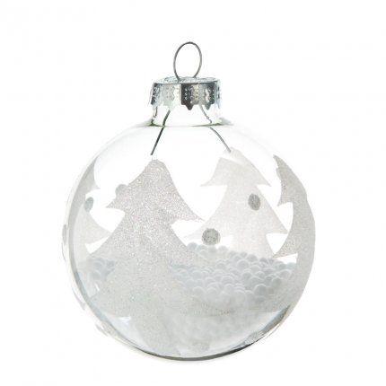 boule de no l en verre sapin maisons du monde kerst christmas christmas bulbs en festival. Black Bedroom Furniture Sets. Home Design Ideas