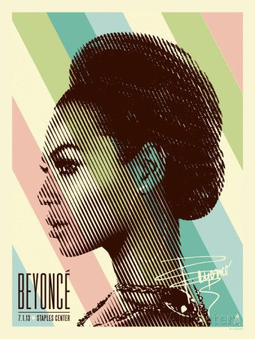 Beyonce Staples Center Print Kii Arens Allposters Com Graphic Design Posters Graphic Design Print Los Angeles Poster