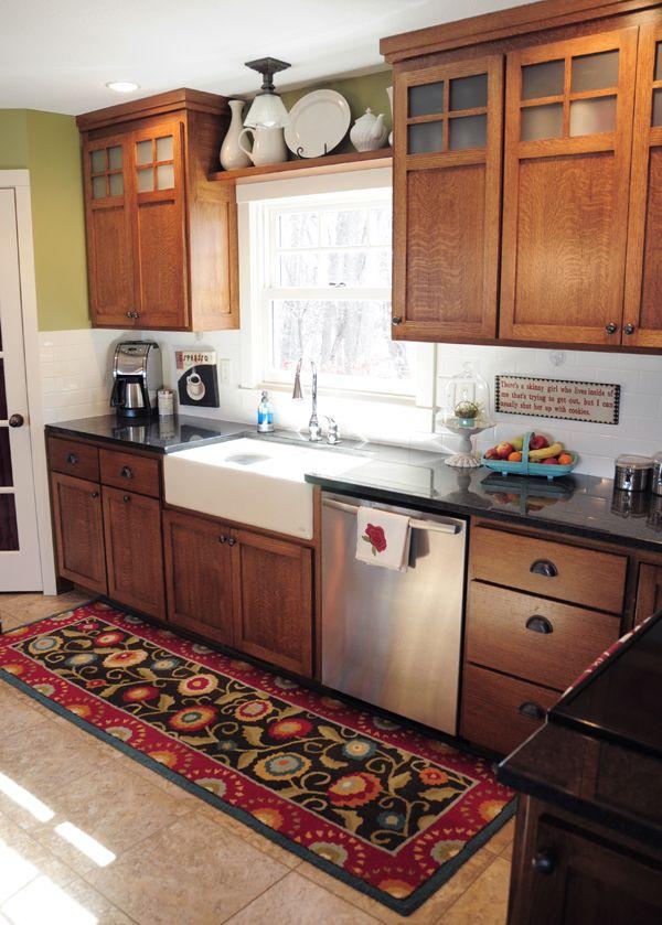 Kitchens Oak Cabinets Farmhouse
