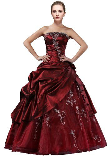 DLFashion Strapless A-line Embroidered Taffeta Prom Dress M-8 Burgundy DLFASHION http://www.amazon.com/dp/B00N5L6J2O/ref=cm_sw_r_pi_dp_UvFJwb12XDAKR