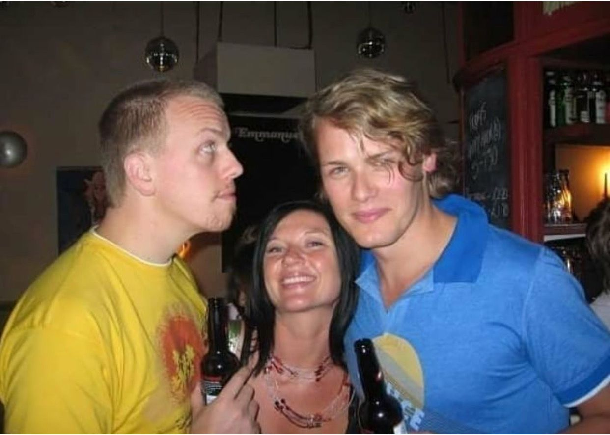 SamHeughan his brother and his ex sister in law   a few