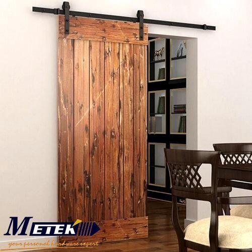 Attractive 4.9FT/6FT/6.6FT Carbon Steel Interior Wood Sliding Barn Door Hardware