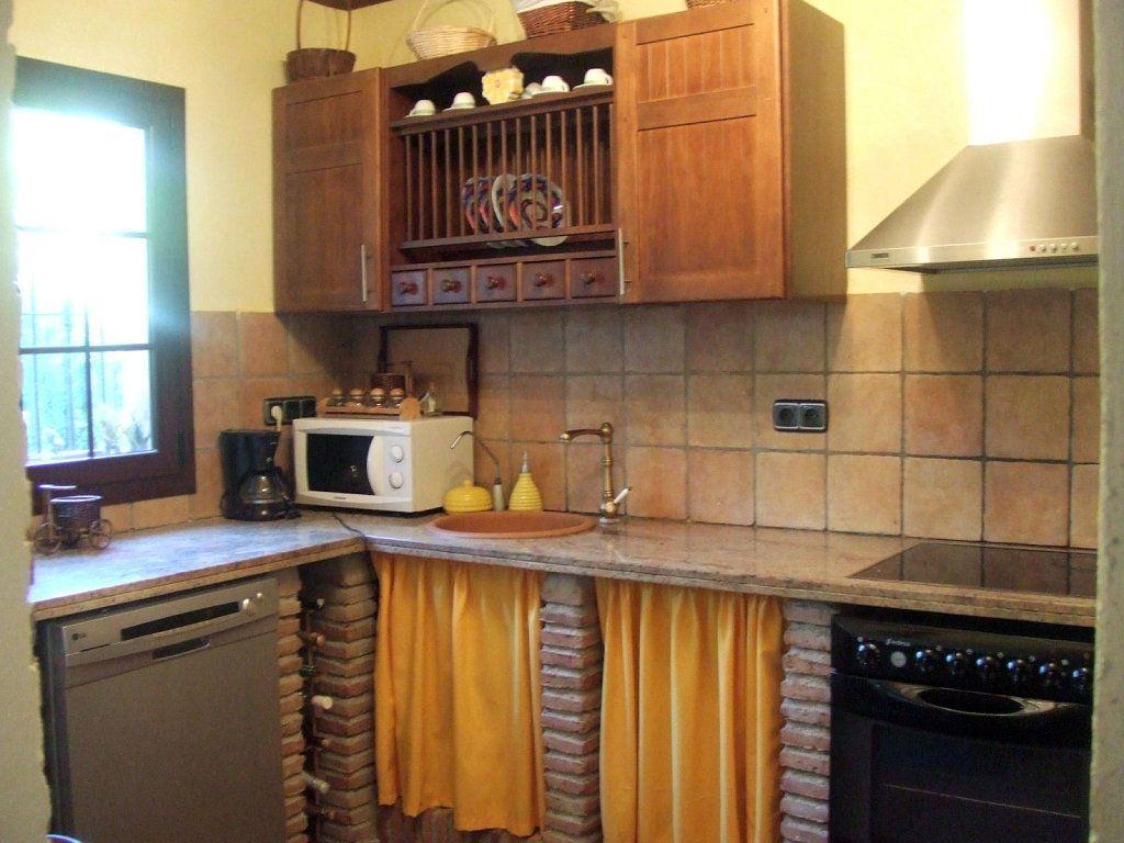 Cocinas rusticas de obra images for Cocinas pequenas con desayunador