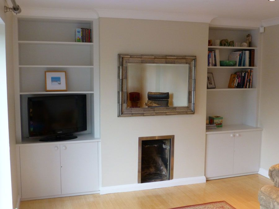 alcove cupboards fitted to ceiling coving  alcove