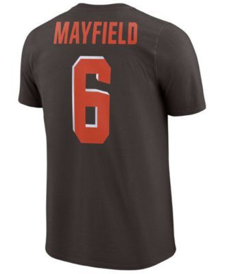 9819451a8 Nike Men s Baker Mayfield Cleveland Browns Pride Name and Number Wordmark T- Shirt - Brown M
