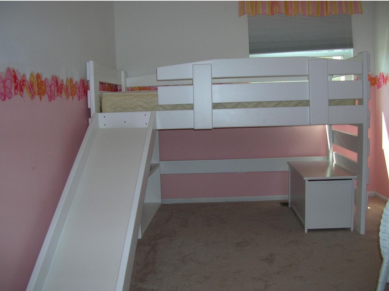 L078 Twin Mid Height Loft Bed Frontier Style Loft Bed Diy Loft Bed Bed