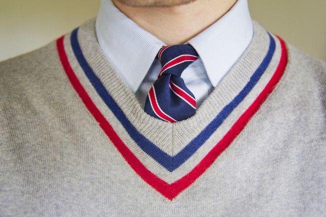 blue red preppy fashion style