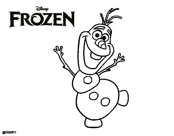 Desenhos Para Colorir Do Olaf Do Filme Frozen Desenhos Para