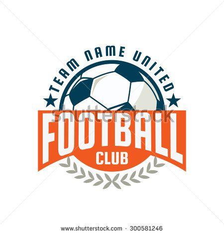 Football badge logo template design,soccer team,vector illustration ...