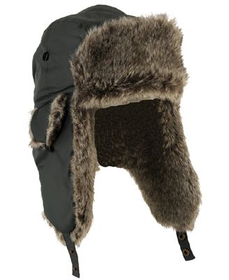 Trapper hat with faux fur trim  13.99 forever 21. Find this Pin and more ... 456aa1973b9a
