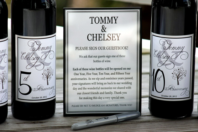 Engraved Wine Bottles For Wedding Gift