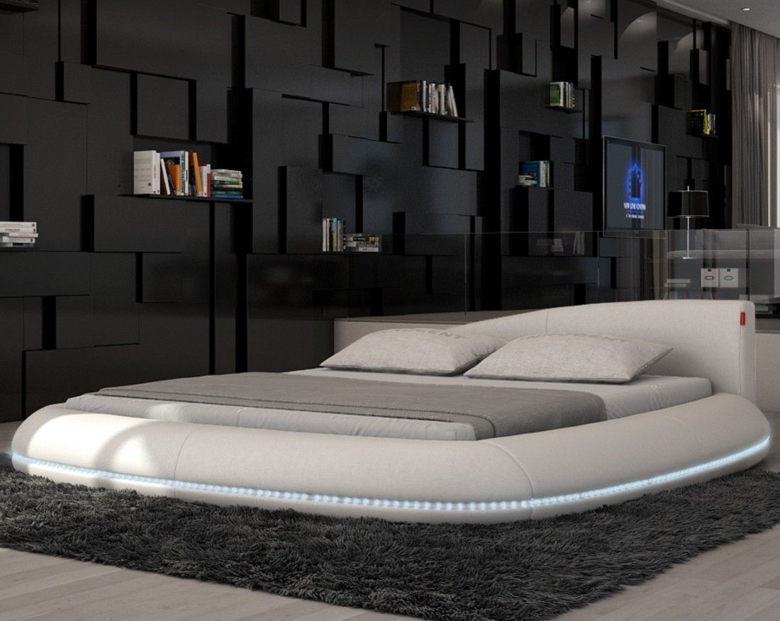 splendid bedroom furniture designs ideas with white round floor beds in futuristic bedroom design - Circle Beds Furniture