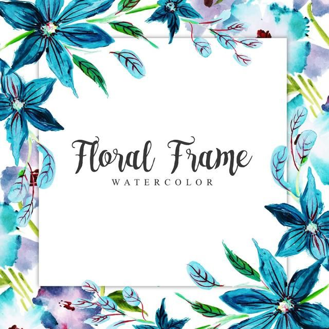 Watercolor Floral Frame Multi Purpose Background Watercolor Color Floral Png And Vector With Transparent Background For Free Download Floral Watercolor Floral Wreath Watercolor Flower Frame