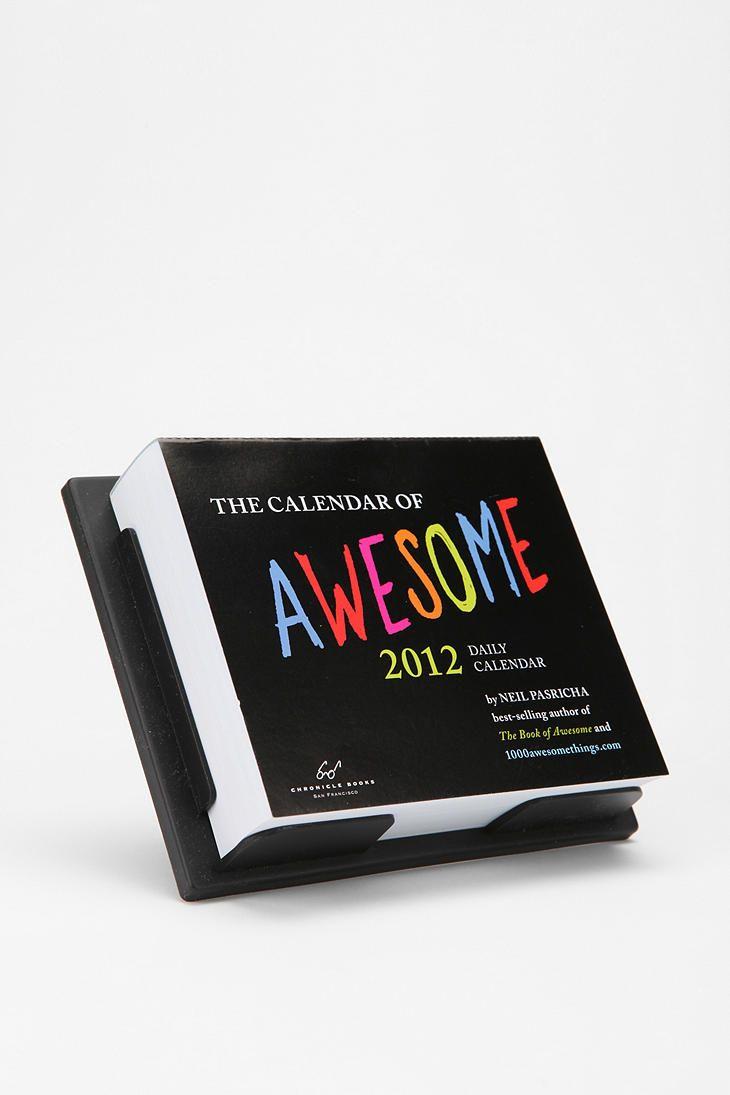 Calendar of Awesome 2012 Box Calendar By Neil Pasricha