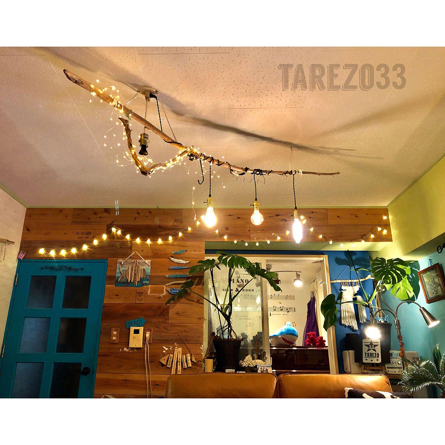 壁 天井 ピアノ グリーンのある暮らし 防音室 間接照明 などの