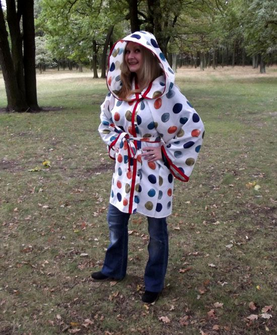 The Sensational Shower Curtain to Raincoat Refashion - Confessions of a Refashionista
