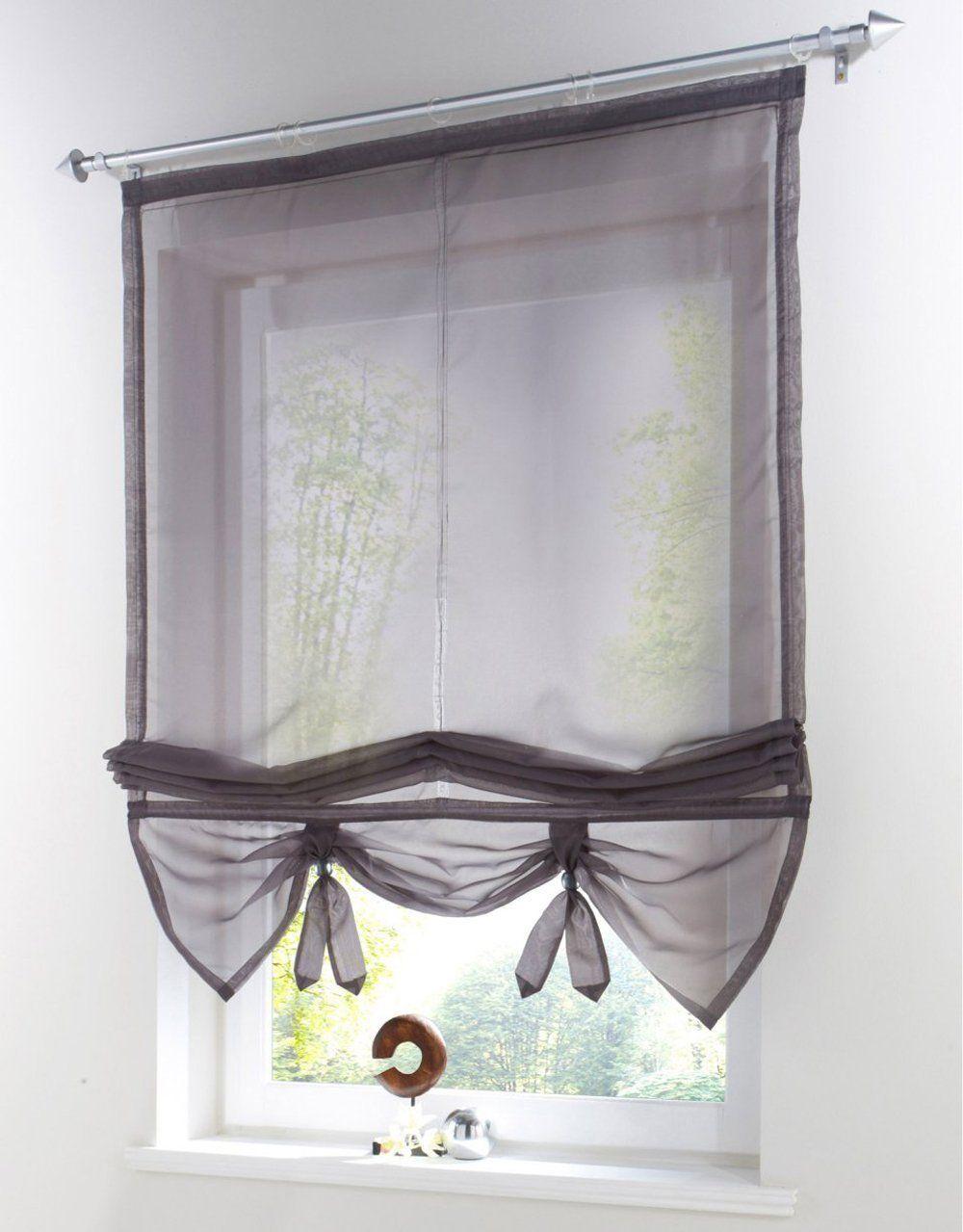 Amazon Uphome 1pcs Liftable Organza Kitchen Balcony Curtains
