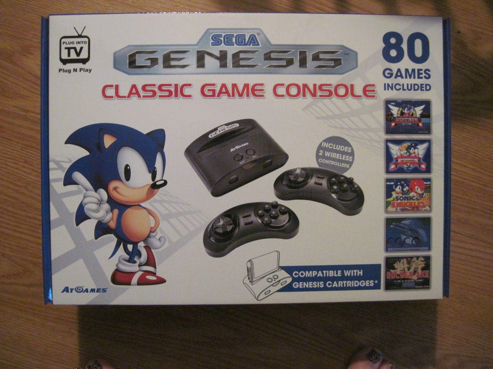 Atgames Sega Genesis Classic Game Console W 80 Built In Games New 2016 Model Atgames Sega Genesis Classic Classic Games Game Console