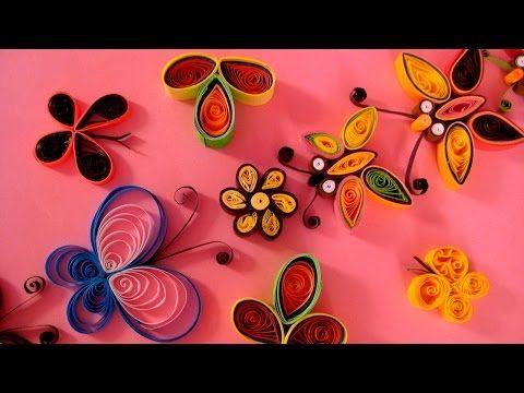 Diy Paper Quilling Flower For Beginner Learning Video 33 Paper