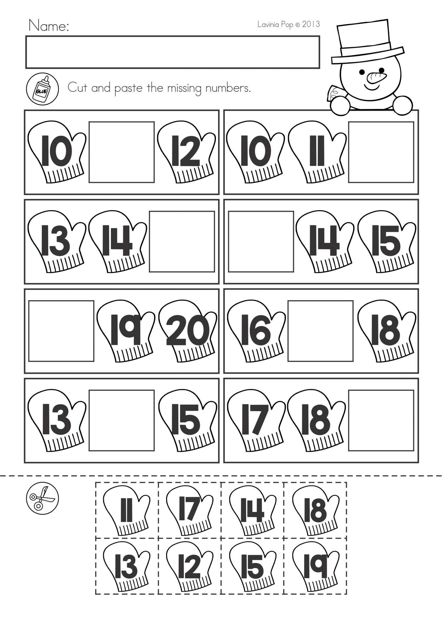 10 Syllable Winter Worksheet Free Kindergarten