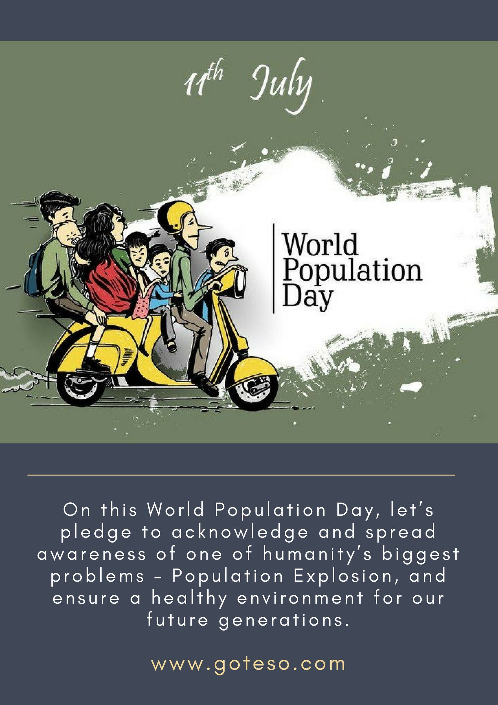 World Population Day 11July Goteso Mobile app