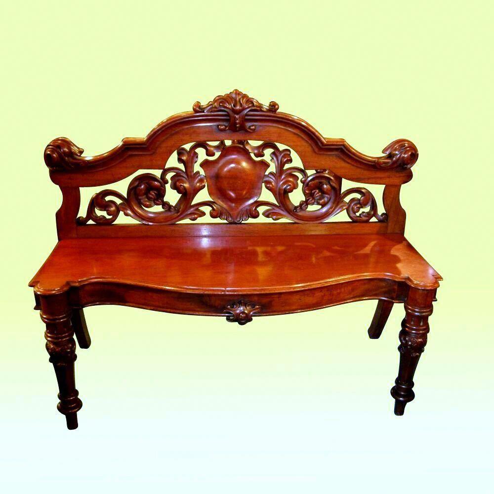 Fabulous Antique Magogany Bench Window Seat Buyinglist Living Room Decor Furniture Antique Bench Antique Furniture
