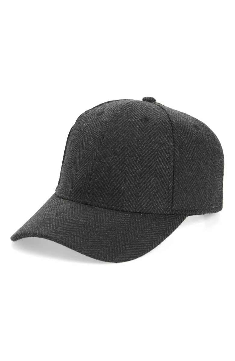 87941eb31 Herringbone Ball Cap, Main, color, BLACK | Branding Applications ...