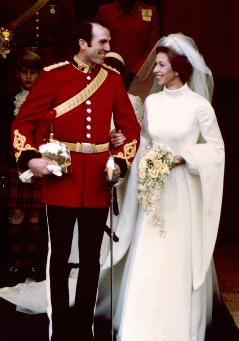 1973 Wedding Day For Princess Anne And Mark Phillips The Had Two Children Peter Zara They Divorced In 1992