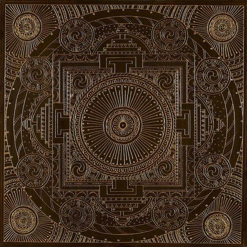 ❤⊰❁⊱ Mandala⊰❁⊱ Brown Temple Mandala