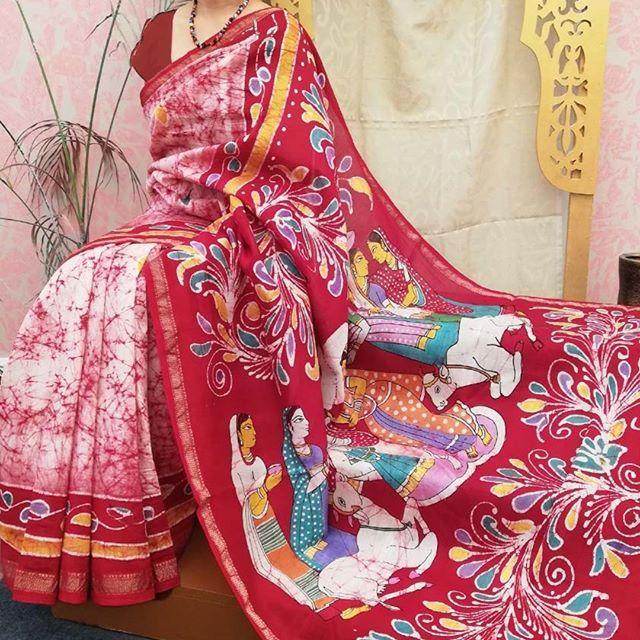Handcrafted Batik Maheshwaris.. So Much Love..art...warmth