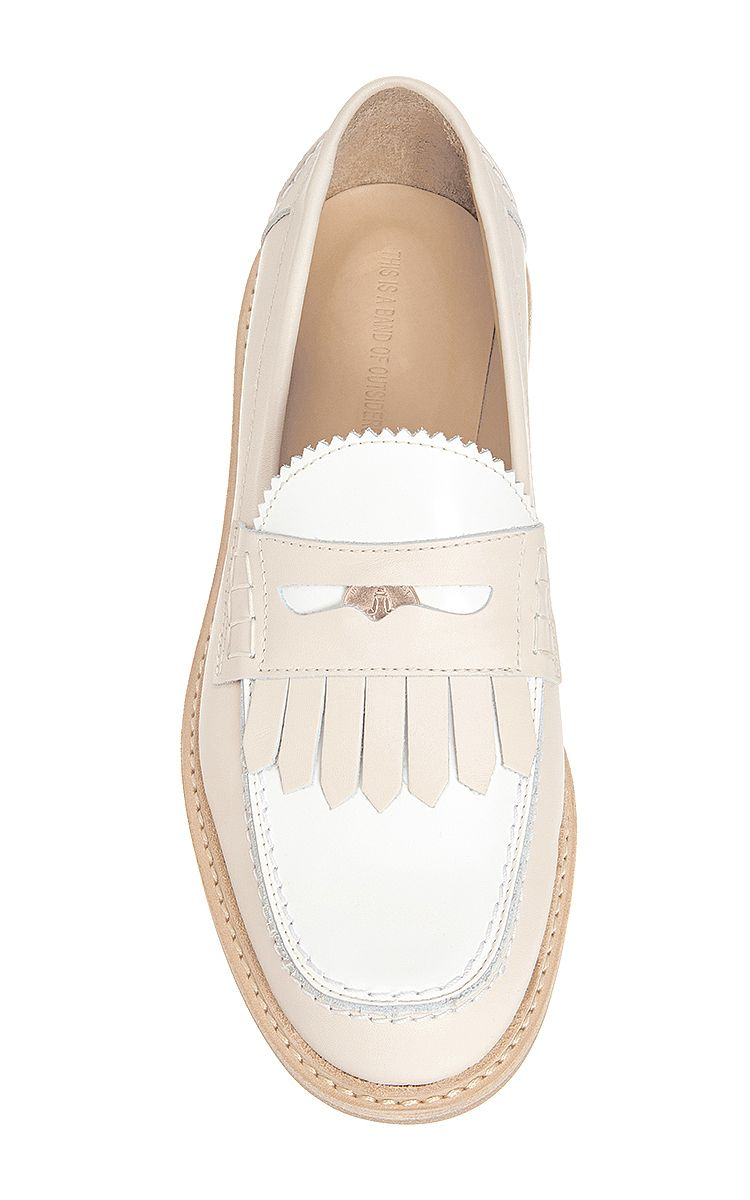 Fringe Leather Penny Loafers by Band of Outsiders Now Available on Moda Operandi