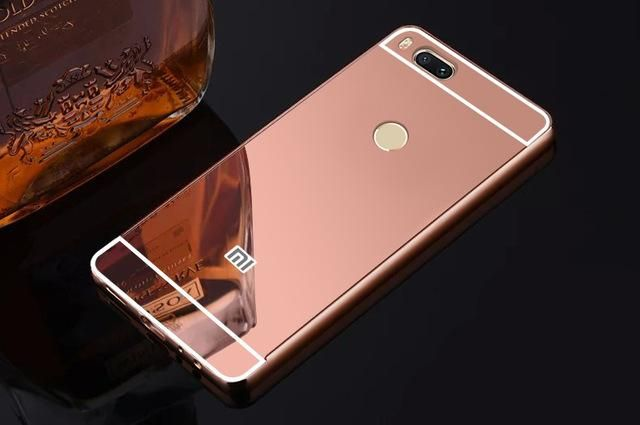 L I For Xiaomi Mi 5x Mi5x Luxury Aluminum Metal Frame Mirror Acrylic Back Cover Coque Funda For Xiaomi Mi A1 Mi Metal Frame Mirror Rose Gold Mirror Gold Mirror