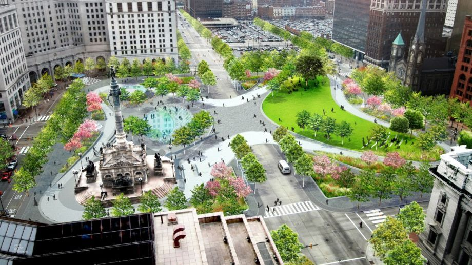 Cleveland S Revamped Public Square Mixes Downtown S Future With
